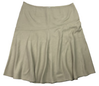 WOMBAT | Women's A-Line Skirt | Plus Size | Viscose Polyester | Beige | Size: 20