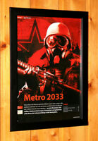 Metro 2033 Video Game very Rare Small Poster / Ad Page Framed Xbox 360 Live THQ
