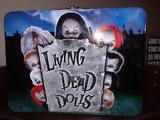 Living Dead Dolls Tin Lunch Box MEZCO Toys 2002 & BONUS FIGURINES