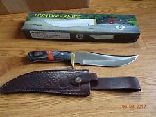 "12"" Overall Chipaway Fixed Blade Knife Black & Red Wood Handle 440Hc Stainless B"