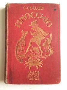 Libro Pinocchio C. Collodi A. Salani Editore 1924