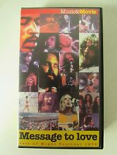 VHS MESSAGE TO LOVE : ISLE OF  WIGHT FESTIVAL 1970