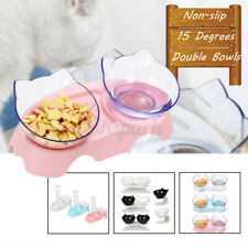 Pets Feeding Dog Cat Water Bowl Removable Food Bowls With Holder Elevated  Yy