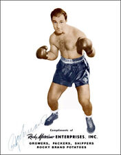Rocky Marciano Autographed Repro Photo Large 11X14 - Brockton Boxer Champ