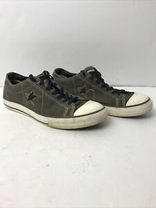 Converse One Star Men's Sneakers-127275FT-Olive Green -Low Top Size 8.5