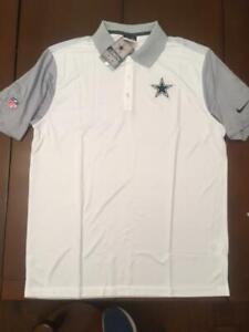 New Dallas Cowboys Authentic Nike Dri-Fit NFL Football Men's Polo Golf Shirt $70