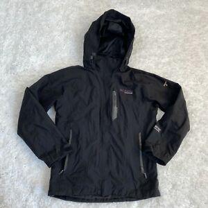 Columbia Titanium Women's Windbreaker Jacket Small Black Goretex 100% Nylon
