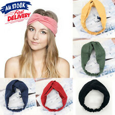 Head Wrap Headband Elastic Hair Band Turban Twist Knot Women Solid Suede