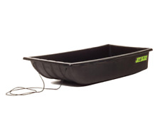 Shappell Jet Ice Fishing Sled Black Tow Rope Molded Runner Container Gear Haul