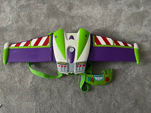 Toy Story Buzz Lightyear Talking Deluxe Jet Fly Play Wings Back Pack Disney RARE