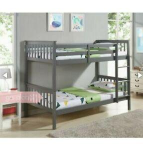 Wooden Bunk Bed twin kids furniture modern