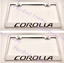 2X Toyota Corolla Stainless Steel License Plate Frame Rust Free W/ Boltcap
