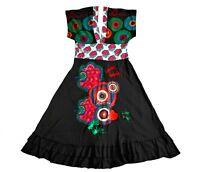 DESIGUAL #01V2005 V-neck V-back Short Sleeve Geometric Print 'Johanna' Dress M