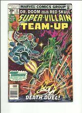 SUPER-VILLAIN TEAM UP #12 (FN)--1977--MARVEL COMICS--DR. DOOM AND RED SKULL