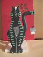 WHIMSICAL COUNTRY CAT ~ PAPER TOWEL HOLDER