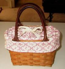 Longaberger SMALL Boardwalk or Hope Small Tote Basket LINER ONLY - PINK - NEW!!