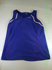 Nike Dri Fit Extra Small XS TankTop Tennis Purple Built in Bra Ruched Athletic
