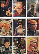 STAR TREK DS9 DEEP SPACE NINE PROFILES QUARK'S BAR QUIPS INSERT SET (9)