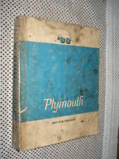 1968 PLYMOUTH SHOP MANUAL ORIGINAL SERVICE BOOK CUDA VALIANT