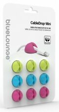 BlueLounge MINI CABLEDROPS 9-Pieces Self Adhesive Backing, Bright Colours