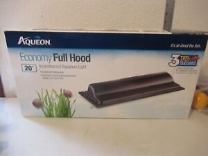 """Aqueon Economy Full Hood 20"""" Incandescent Aquarium Light NEW IN BOX"""