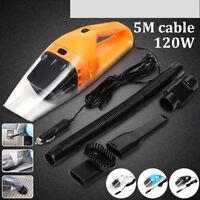 Portable 12V 120W Dust Auto Vehicle Car Handheld Vacuum Dirt Cleaner Wet &