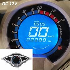 Motorcycle Bike LCD Digital Odometer  Speedometer Tachometer Gauge Meter DC 12V