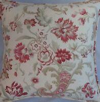A 16 Inch Cushion Cover In Laura Ashley Sakura Gold Fabric