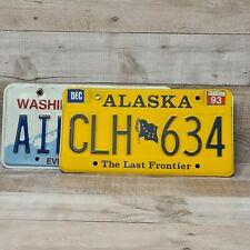 Two Original American Licence Plates