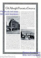 Fioroni Hotel Genua XL Reklame von 1929 Bristol Palace Savoia Londra Genova +