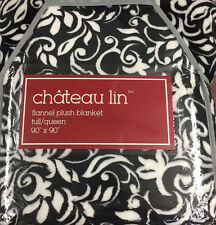 "Chateau Lin Flannel Plush Blanket Full/Queen 90""x90"""