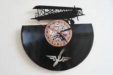 Reloj De Pared viejo Avión Vinyl Record Dormitorio Playroom Club Oficina Arte de inicio Tienda