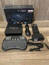 MXQ Pro 4K 3D Android 7.1.2 Quad Core Smart TV Box HDMI WIFI 17.6 With keyboard