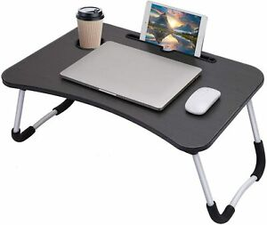 Laptop Bed Table, Breakfast Tray with foldable legs, Portable Lap Standing Desk,