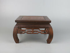 """wooden base Chinese brown Ji-chi wood square hand-carved display stand 6"""""""
