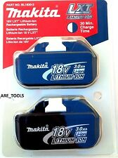 2 NEW IN RETAIL (TWIN)  Genuine Makita 18V Batteries BL1830-2 3.0 AH 18 Volt LXT