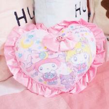Sailor Moon × My melody Limited SANRIO LUNA  Plush Cushion Pillow Heart Shaped