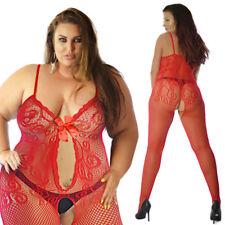 UK Size12-28 Sexy Lace Lingerie Underwear Full Body Stocking Christmas Gift Plus