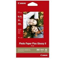 Canon 6x4 Glossy Plus II Photo Paper Pk 50 10x15 PP201