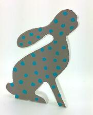 Hecho A Mano Madera Conejo Bunny Figura Navidad Decoración Shabby Chic Casa