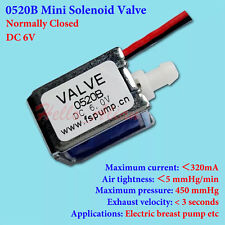 DC 6V Mini Electric Solenoid Valve Normally Closed N/C DIY Breast Pump Air Valve