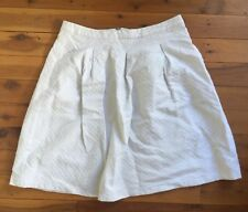 Sportsgirl White Textured High Waist A-Line Midi Skirt Size 16