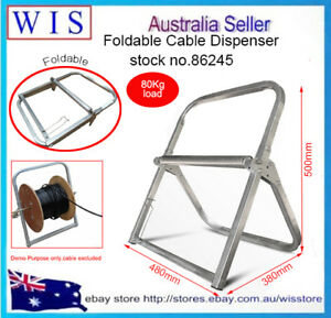 Telstra NBN Cable Holder Stand RG6 Wire Cable Reel Caddy Foldable,80Kg Load86249