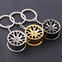 Creative Zinc Alloy Mini Wheel Hub Keyring Keychain Key Chain Ring Keyfob Gifts