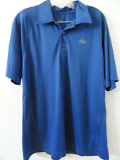 Quiksilver Performance Dri-Fit Blue Golf Shirt Size L