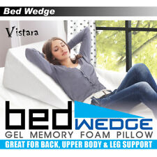 Cooling Gel Memory Foam Bed Wedge Cushion Neck Back Support Sleep Washable Cover