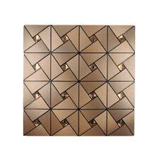 30x30cm Mosaic 3d Panels Wallpaper Wall Sticker Home Tile DIY Wall Decor Copper 4pcs