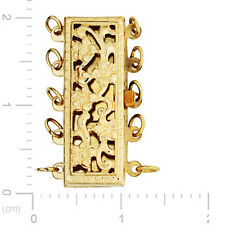 Gold Filled Clasp for Pearls and Beads - Rectangle Filigree