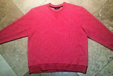 Orvis Crew Neck Pullover Heavyweight Shirt Polyester Blend Red L