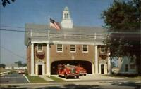 Southold Long Island NY Fire Dept Station Postcard c1950s